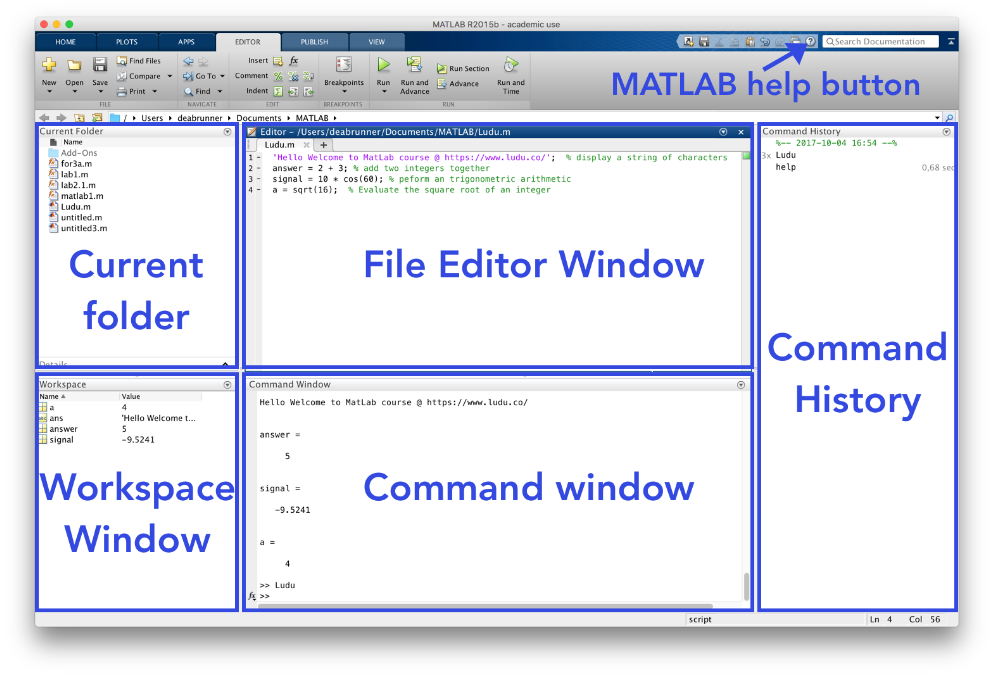 Getting started - Introduction to Matlab - Ludu
